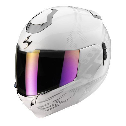 Scorpion Exo 900 Air Furtive flip off helmet White