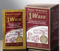 1WASH, 12 sachets of shampoo wash disposable
