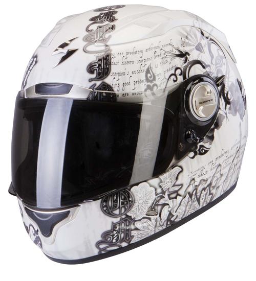 Casco integrale Scorpion Exo 1000 Air Astral Bianco Camaleonte