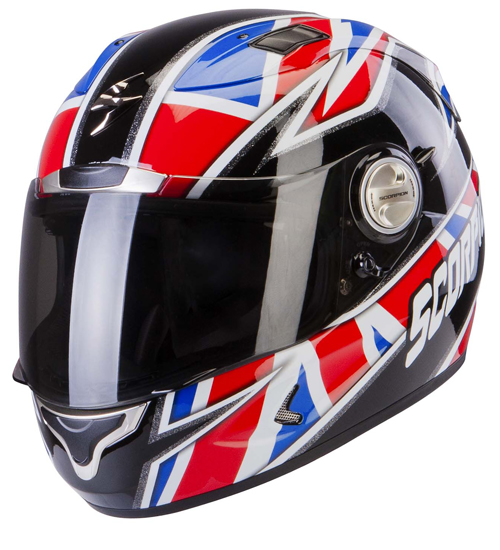 Scorpion Exo 1000 Air Dograge full face helmet Red Blue