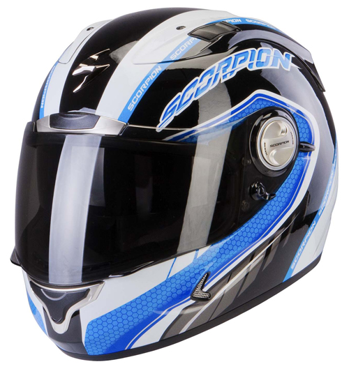 Casco integrale Scorpion Exo 1000 Air Pipeline Nero Blu