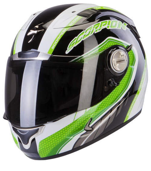 Casco integrale Scorpion Exo 1000 Air Pipeline Nero Verde