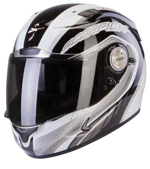 Scorpion Exo 1000 Air Pipeline full face helmet Black Silver