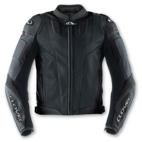 Clover Triforce leather motorcycle jacket Level 2 Black