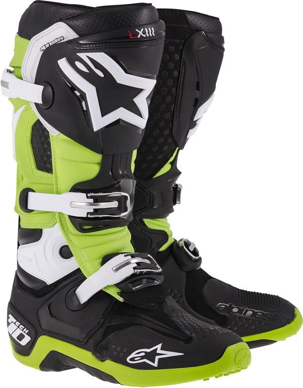 Stivali moto off-road Alpinestars Tech-10 2014 Nero Verde
