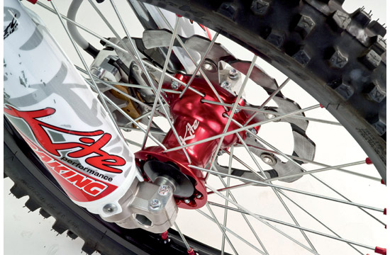 Kite MX Enduro rear wheel 215x19 Red Kawasaki