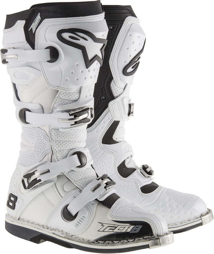 Stivali cross Alpinestars Tech 8 RS Vented Bianco