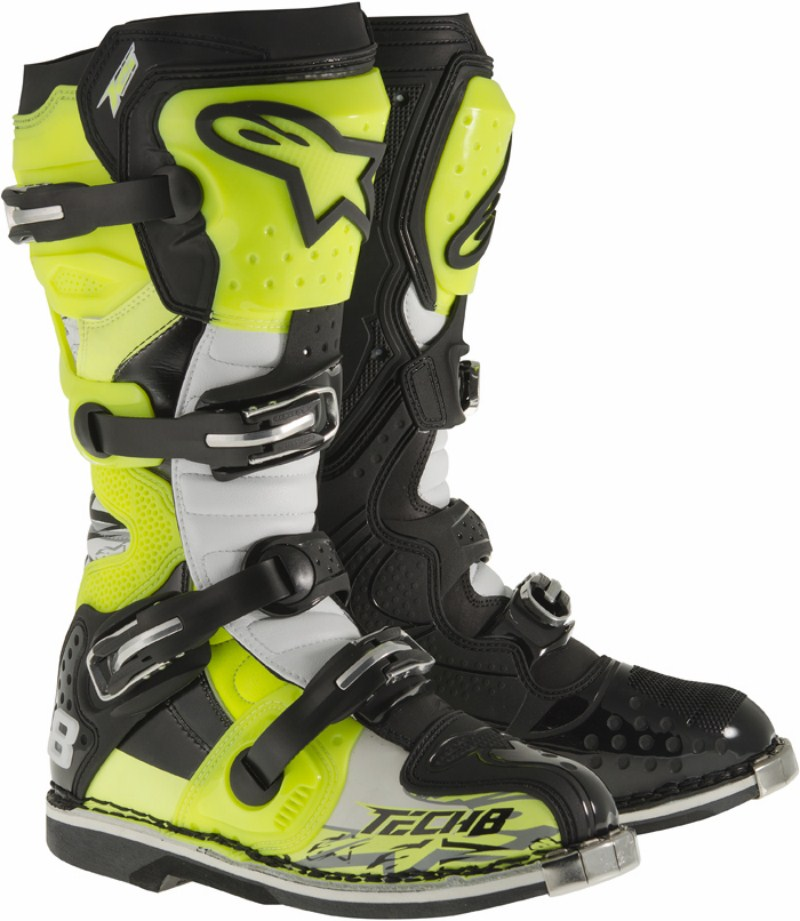 Alpinestars Tech 8 Boots cross RS fluo Yellow Black White