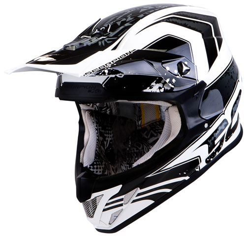 Casco cross Scorpion VX 20 Air Quartz Bianco Nero