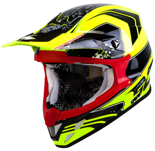 Scorpion VX 20 Air Quartz off road helmet Neon Yellow Black