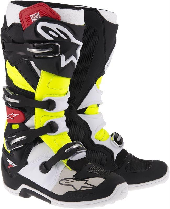 Stivali moto off-road Alpinestars Tech-7 2014 Nero Rosso Giallo