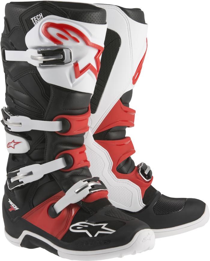 Alpinestars Tech 7 cross boots Black White Red