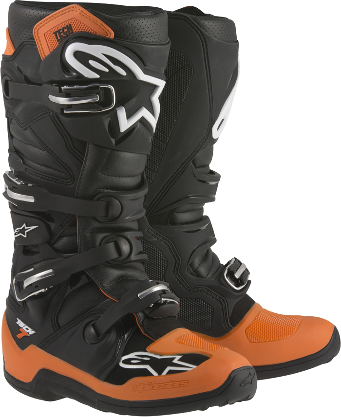 Stivali cross Alpinestars Tech 7 Nero Arancio