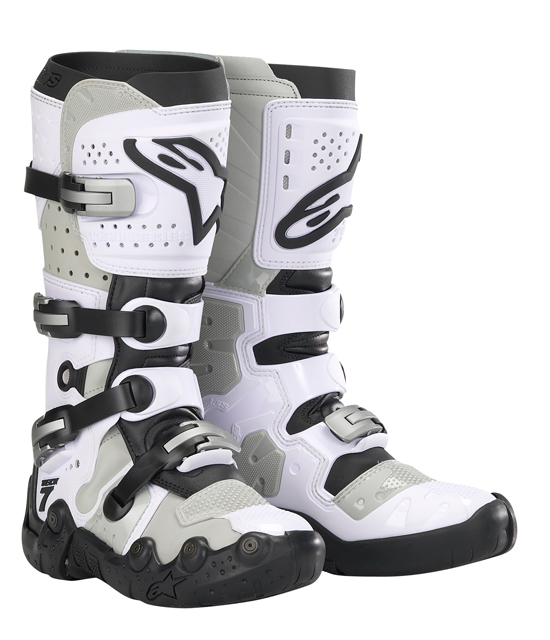 Alpinestars Tech 7 Supermoto boots - White-Gray vented