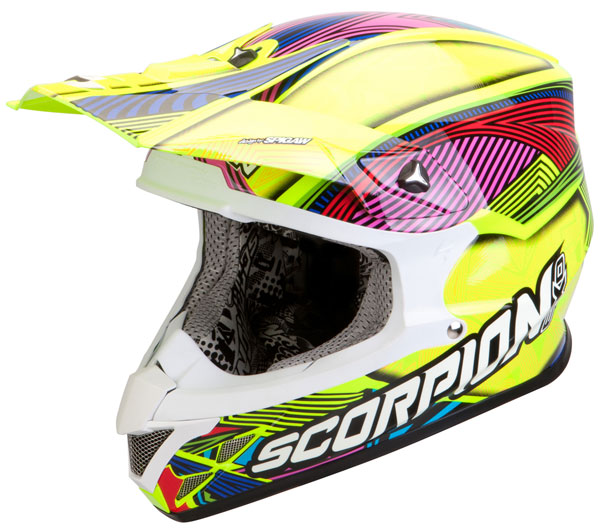 Cross helmet Scorpion VX 20 Air Geo Neon Yellow Multicolor