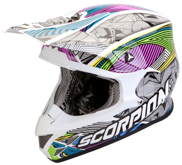Cross helmet Scorpion VX 20 Air Geo White Black Multicolor