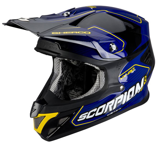 Cross helmet Scorpion VX 20 Sherco Blue Black