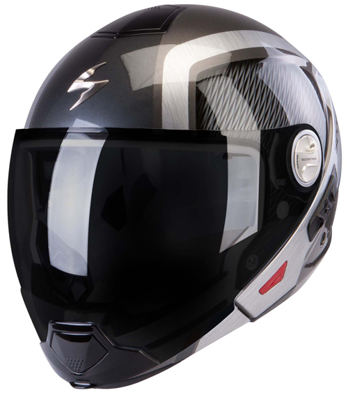Casco modulare Scorpion Exo 300 Air Grid Argento Scuro