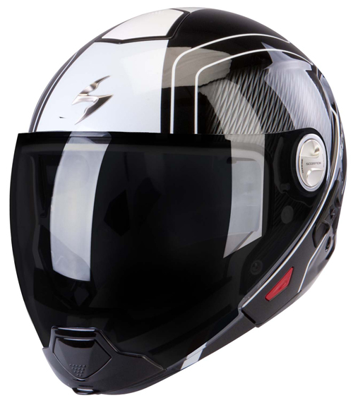 Scorpion Exo 300 Air Grid flip off helmet Black White