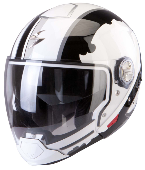 Scorpion Exo 300 Air Gunner flip off helmet White Black