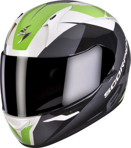 Scorpion Full Face Helmet Exo 410 Slicer White Black Green