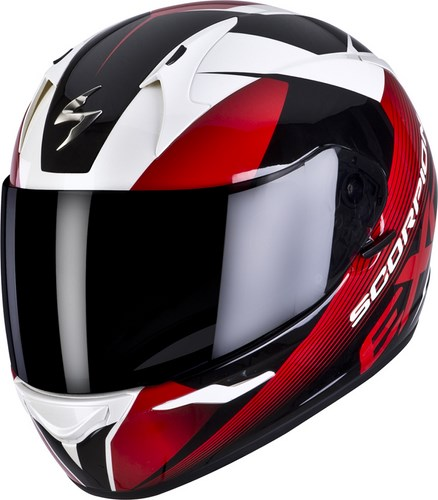 Scorpion Full Face Helmet Exo 410 Slicer White Black Red