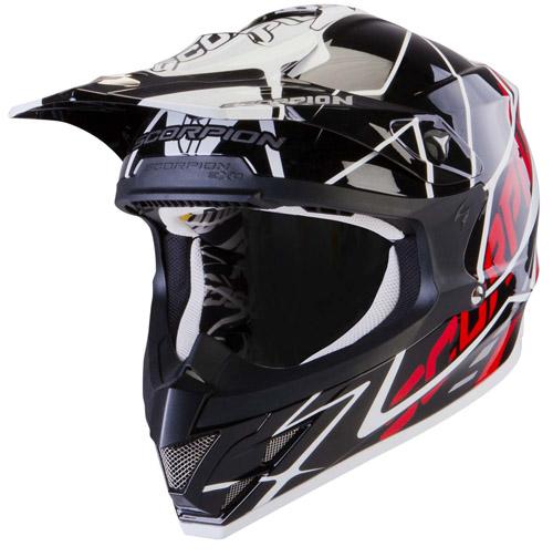 Scorpion VX 15 Air Sprint off road helmet Black White Red