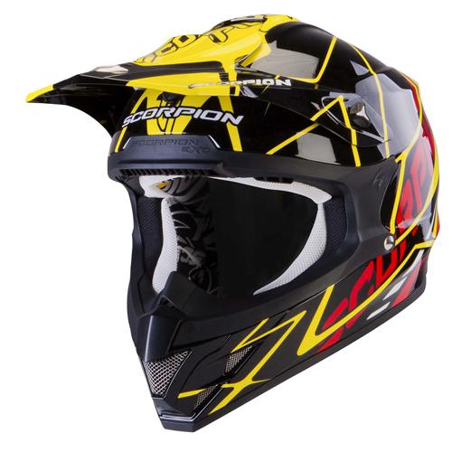 Scorpion VX 15 Air Sprint off road helmet Black Yellow Red