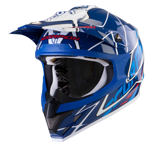 Scorpion VX 15 Air Sprint off road helmet Blue White Red