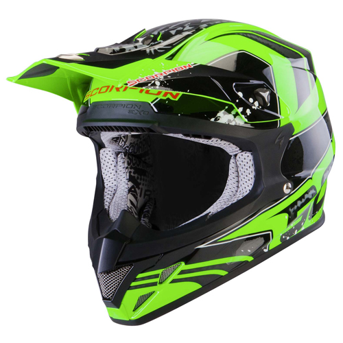 Casco cross Scorpion VX 20 Air Quartz Verde Neon