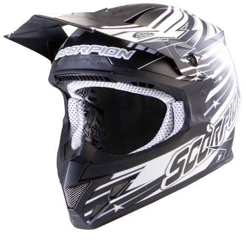 Scorpion VX 20 Air StarTrooper off road helmet Matt Black