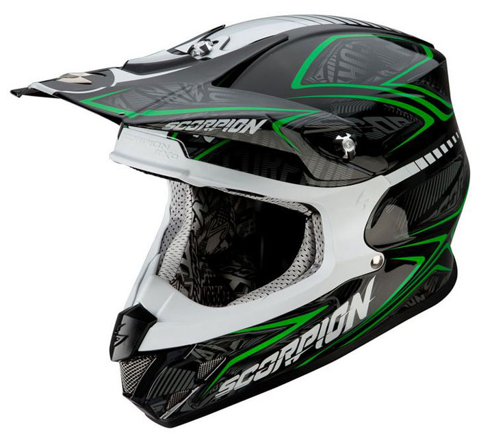 Whoops cross helmet Scorpion VX 20 Black Green