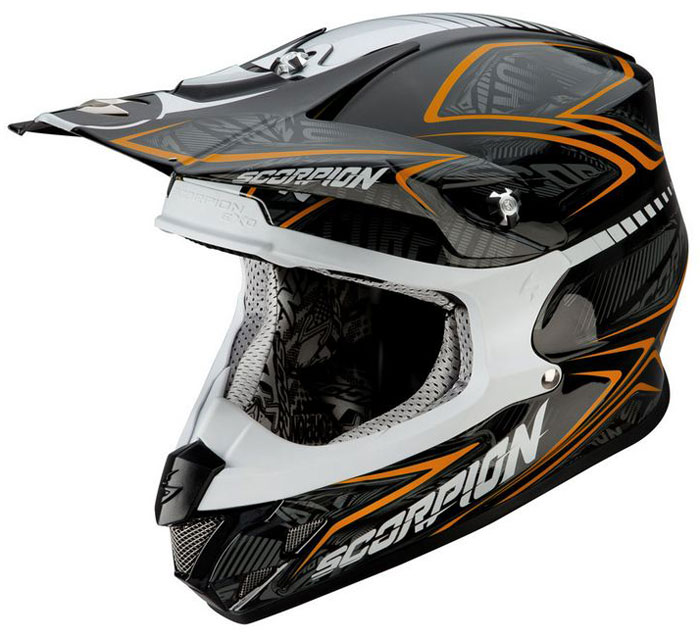 Whoops cross helmet Scorpion VX 20 Black Orange