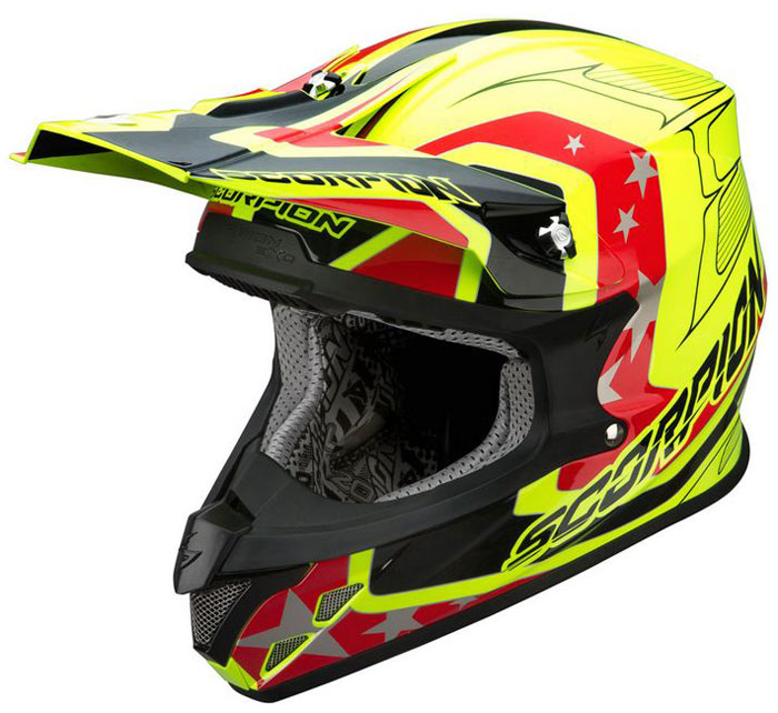 Cross helmet Scorpion VX 20 Space Neon Yellow Black Red