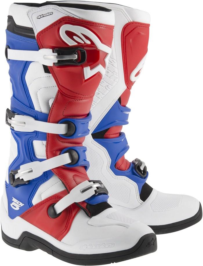 Alpinestars Tech 5 cross boots White Red Blue