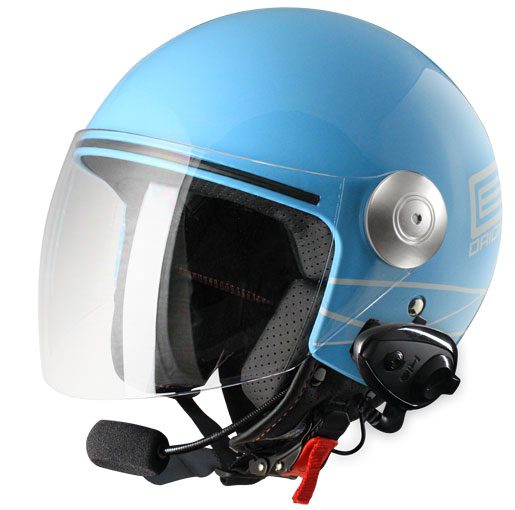 Origine Pronto Lia jet helmet with intercom KIE Blue
