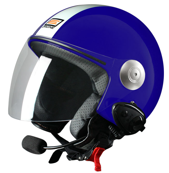 Source jet helmet with intercom Ready Tony KIE Blue