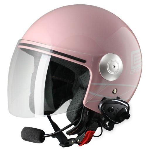 Origine Pronto Lia jet helmet with intercom Kiè Rose