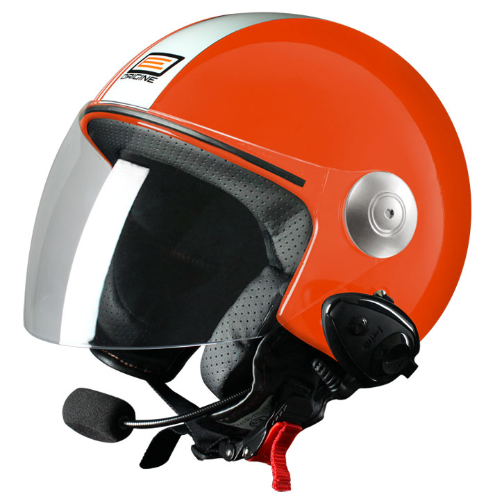 Source jet helmet with intercom Ready Tony KIE Red