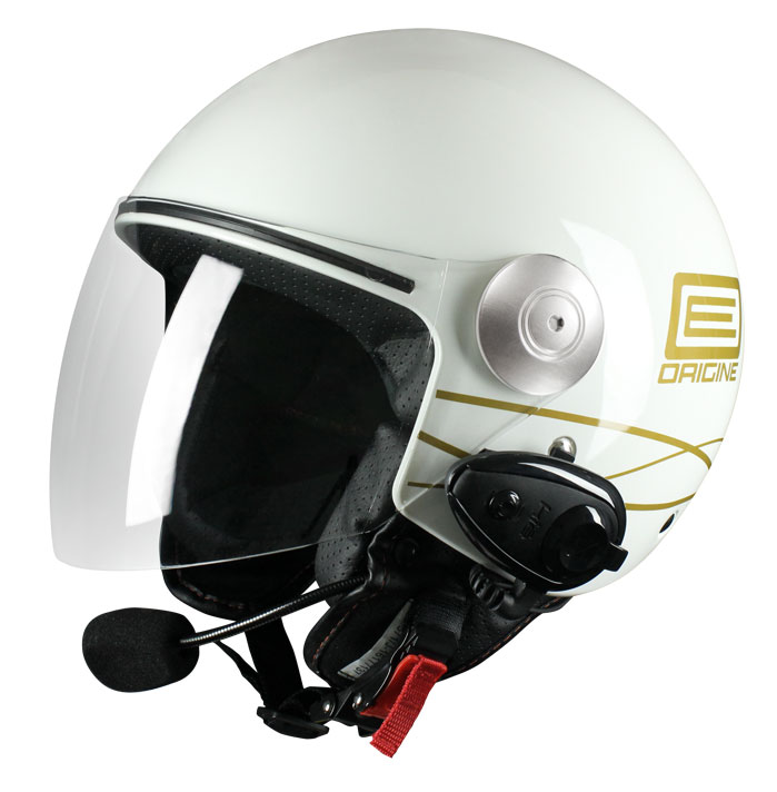 Origine Pronto Lia jet helmet with intercom KIE White Gold
