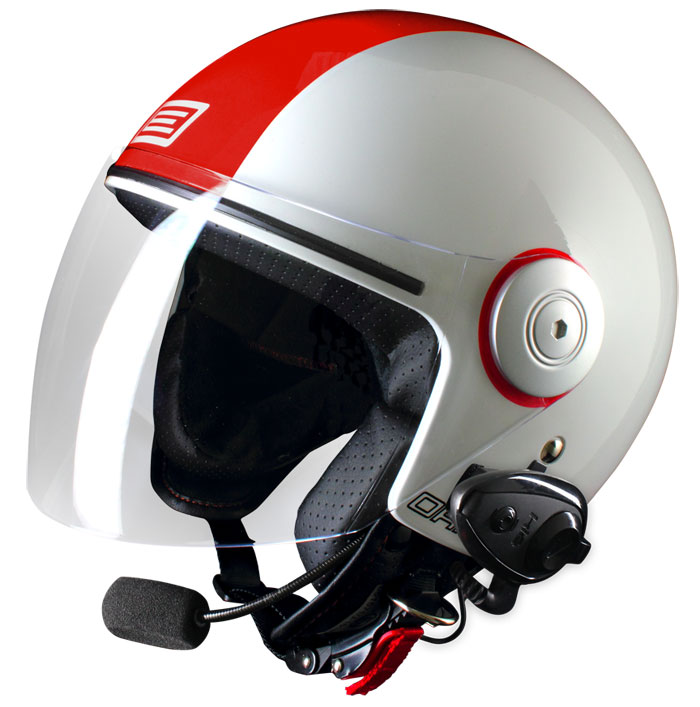 Casco jet Origine Pronto Arena con interfono Kiè
