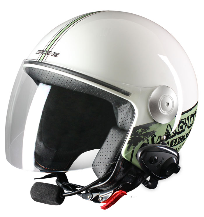 Origine Pronto Laguna jet helmet with intercom Kie