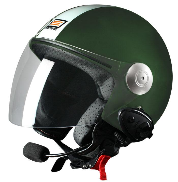 Source jet helmet with intercom Ready Tony Green Kie
