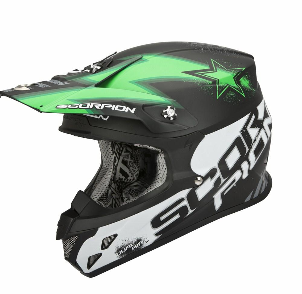 Scorpion VX 20 Air Magnus cross helmet black green