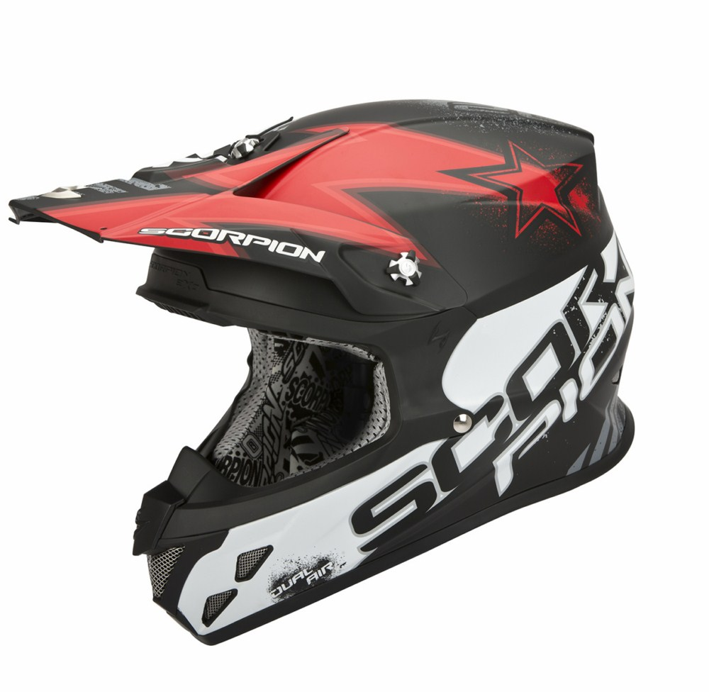 Scorpion VX 20 Air Magnus cross helmet black red