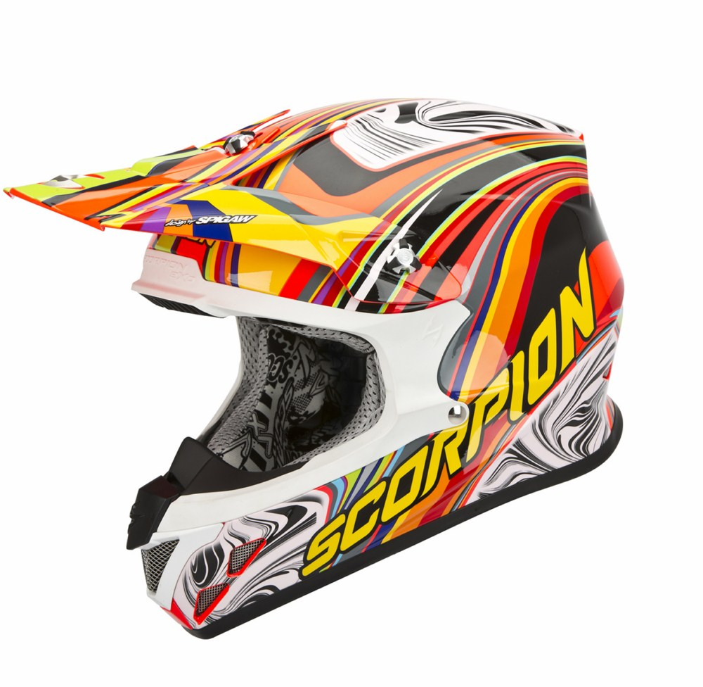 Scorpion VX 20 Air Sym cross helmet red multicolor