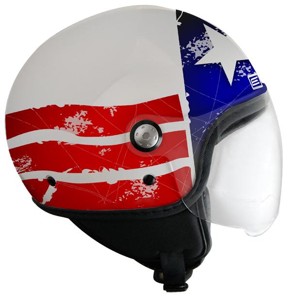 Origine Mio Stars and Stripes Jet Helmet White