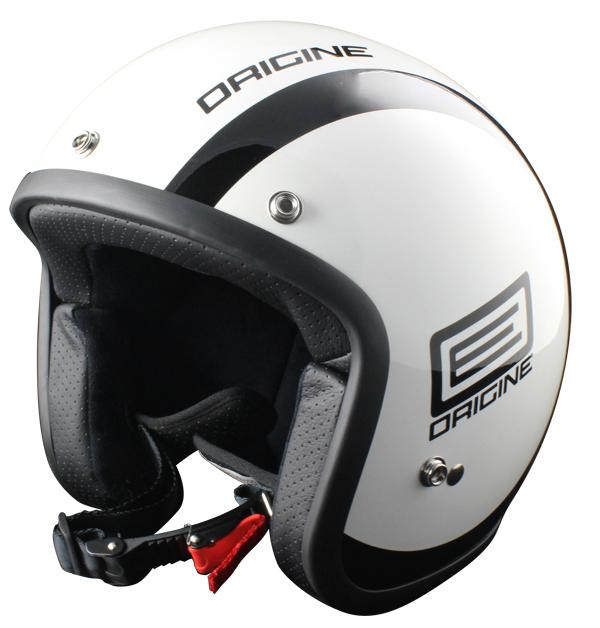 Origine Primo Luna Jet Helmet White Black