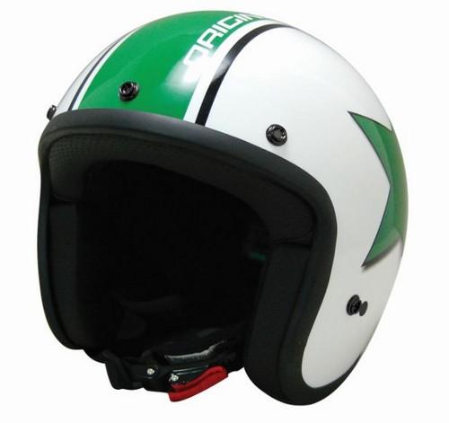 Casco Moto jet  Origine Primo Astro Bianco lucido - verde
