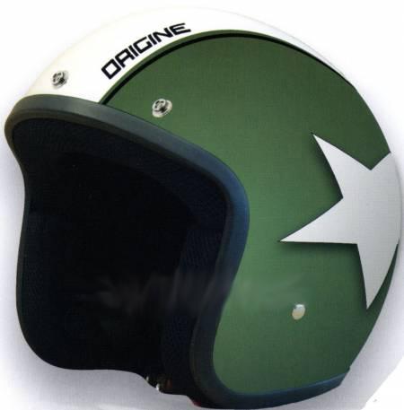 Casco Moto Jet Origine Primo Astro Verde opaco